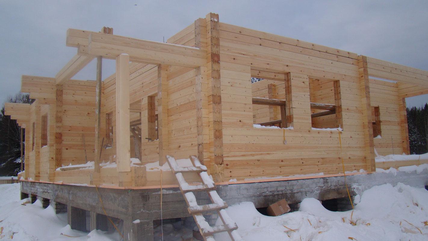 Дом из профилированного бруса своими руками Строительный 20